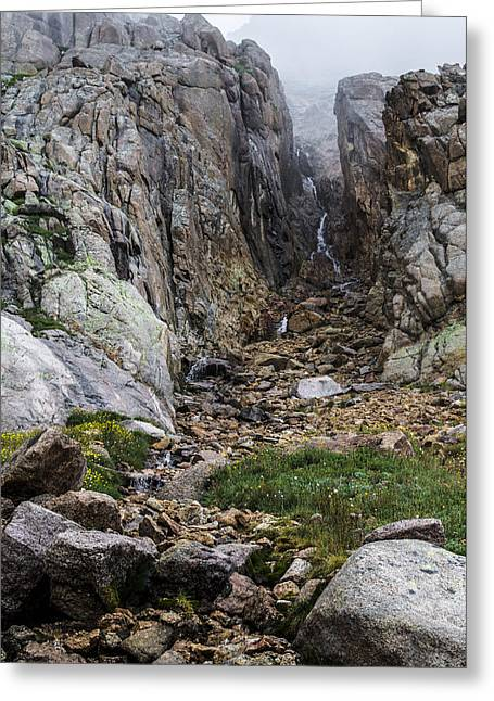 Colorado Greeting Cards - Misty Waterfall Greeting Card by Aaron Spong