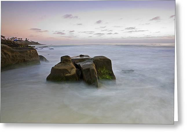 Tide Pools Greeting Cards - Misty Waters Greeting Card by Peter Tellone