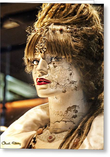 Ladies Of Rodeo Drive Greeting Cards - Misused Greeting Card by Chuck Staley