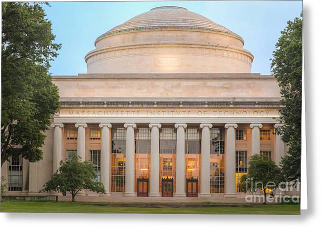 M Court Greeting Cards - MIT Building 10 and Great Dome I Greeting Card by Clarence Holmes