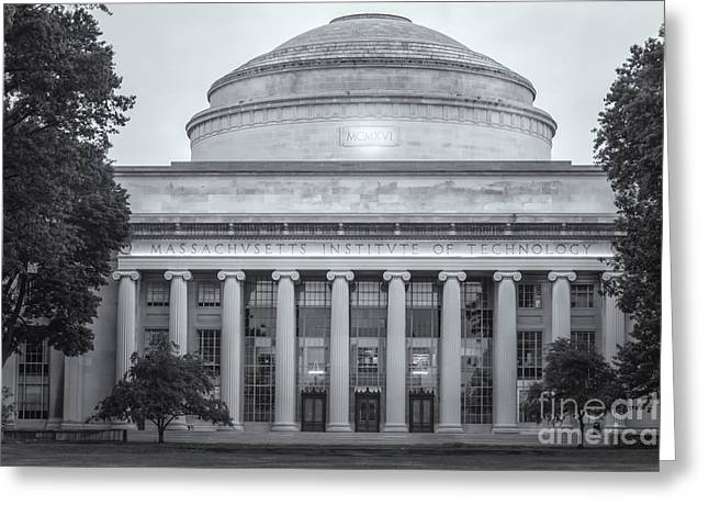 Mit Greeting Cards - MIT Building 10 and Great Dome II Greeting Card by Clarence Holmes