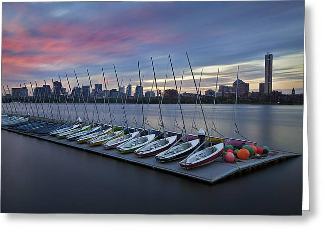 Mit Greeting Cards - MIT Sailing Pavilion Greeting Card by Eric Gendron