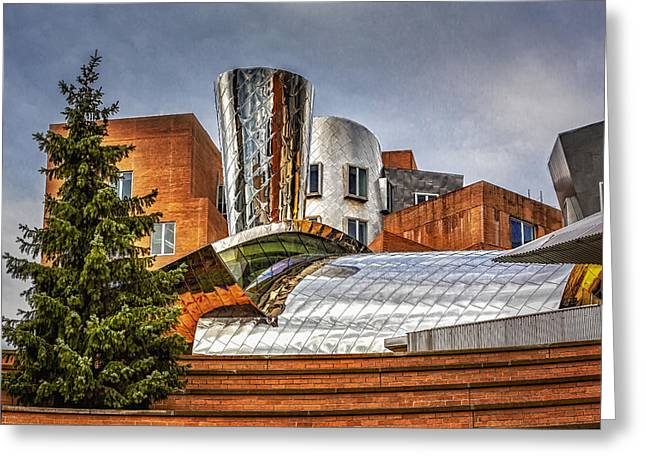 Mit Greeting Cards - MIT Stata Building Center - Cambridge Greeting Card by Susan Candelario
