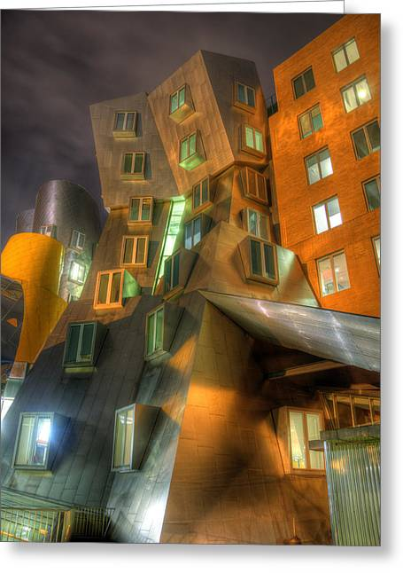 Mit Greeting Cards - MIT Stata Center - Boston Greeting Card by Joann Vitali