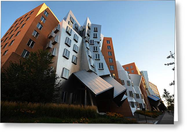 Kendall Greeting Cards - MIT Stata Center in Kendall Square Cambridge MA Greeting Card by Toby McGuire