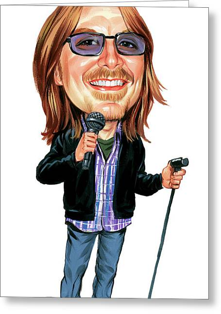 Cave Greeting Cards - Mitch Hedberg Greeting Card by Art