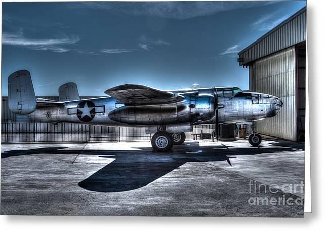 North American B-25j Mitchell Photographs Greeting Cards - Mitchell B-25J Greeting Card by Tommy Anderson