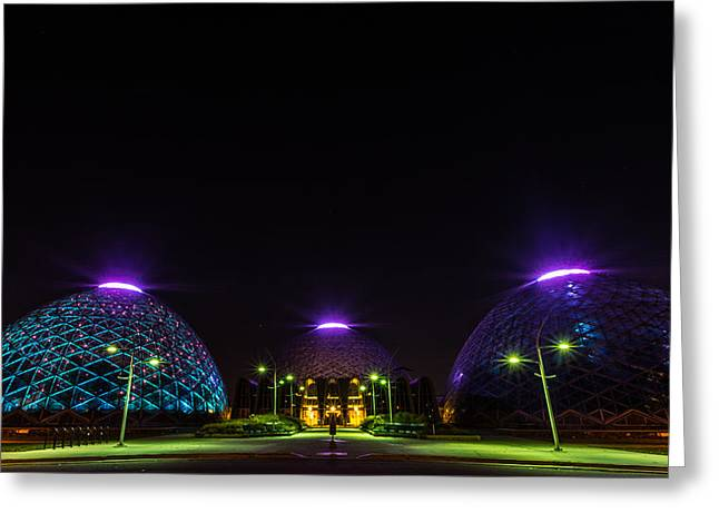 Dome Light Greeting Cards - Mitchell Park Domes Greeting Card by Randy Scherkenbach