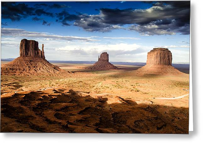 Berghoff Greeting Cards - Mittens at Monument Valley - Arizona Greeting Card by Jon Berghoff