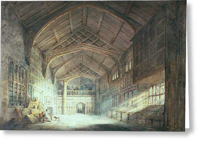 Rafters Greeting Cards - Mitton Hall, Lancashire Greeting Card by Joseph Mallord William Turner