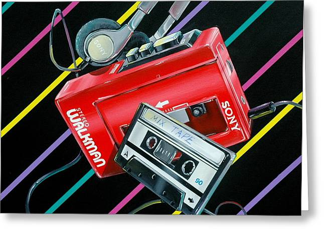 Hyperrealistic Greeting Cards - Mix Tape Greeting Card by Anthony Mezza
