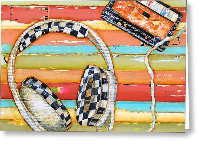 Mix Tape Greeting Card by Danny Phillips