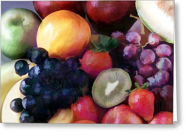 Mixed Fruit Greeting Card by Elaine Plesser