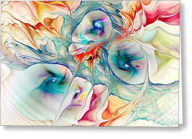 Present Greeting Cards - Mixed Reaction Greeting Card by Anastasiya Malakhova