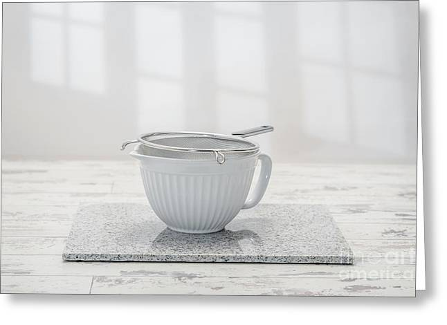 White Bowl Greeting Cards - Mixing Bowl Greeting Card by Amanda And Christopher Elwell