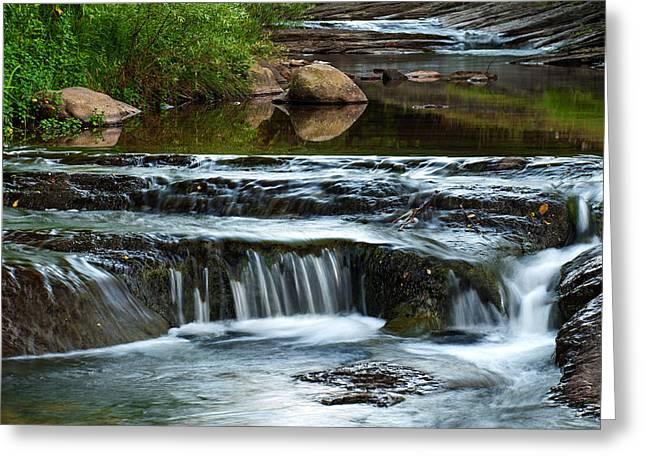 Refelctions Greeting Cards - Miykovska River 1 Greeting Card by Art Mccaffrey