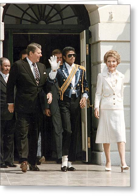 Negro Greeting Cards - MJ and the Reagans Greeting Card by Nomad Art And  Design