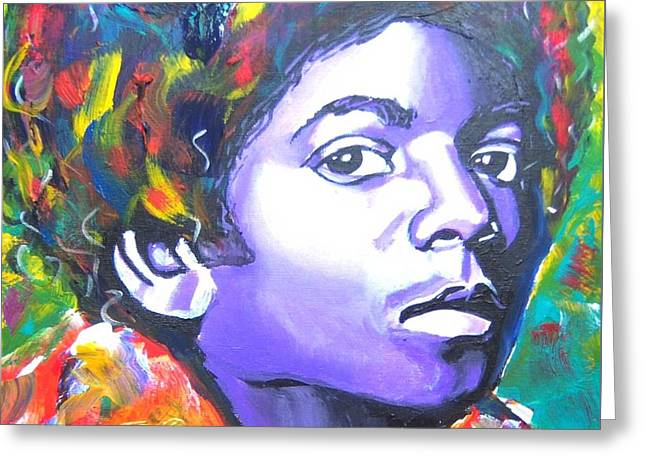 MJ Greeting Card by Jonathan Tyson