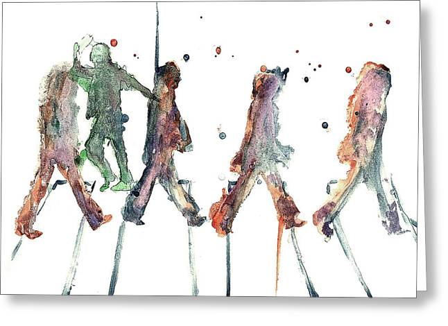 J. Harrison Greeting Cards - M.J. On Abbey Road Greeting Card by Jody Thompson