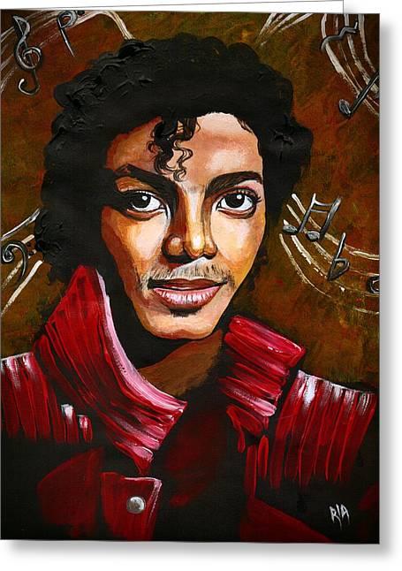 MJ Greeting Card by RiA RiA