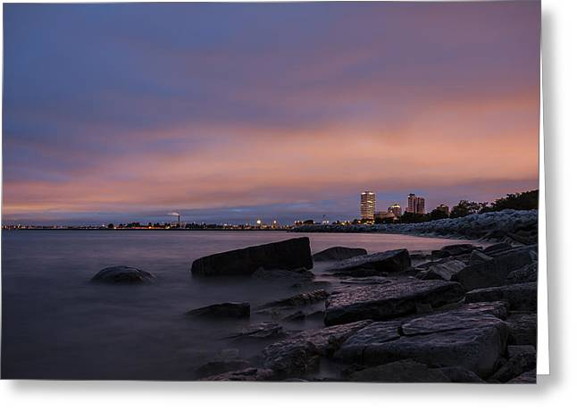 North Point Greeting Cards - MKE 5am Greeting Card by CJ Schmit
