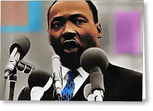 Civil Rights Greeting Cards - Mlk Greeting Card by Anthony Caruso