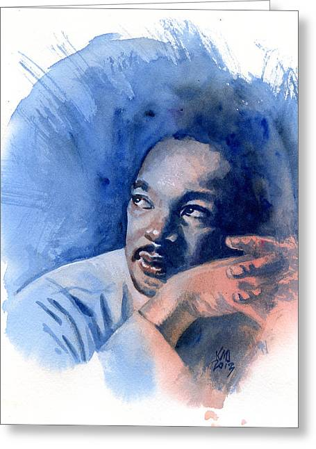 Civil Rights Greeting Cards - MLK Day Greeting Card by Ken Meyer jr