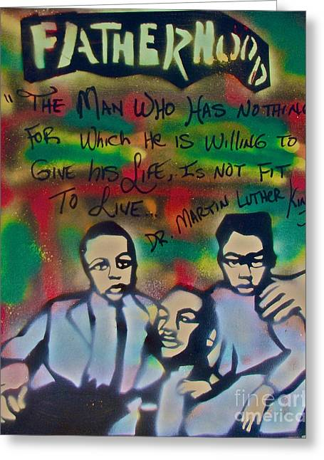 99 Percent Greeting Cards - Mlk Fatherhood 1  Greeting Card by Tony B Conscious