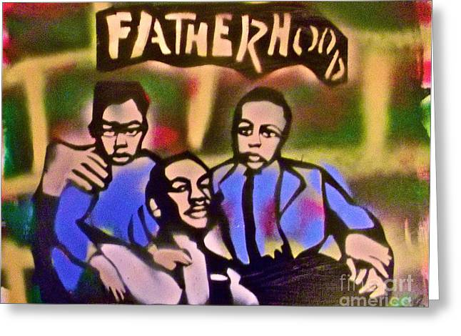 99 Percent Greeting Cards - Mlk Fatherhood 2 Greeting Card by Tony B Conscious
