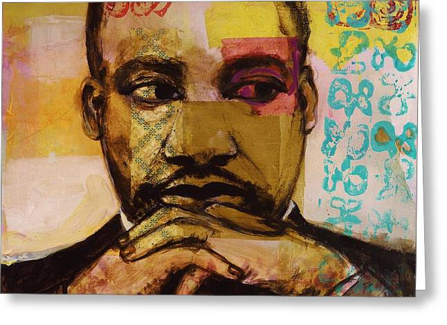 Human Rights Leader Greeting Cards - Mlk Greeting Card by Melinda Jones