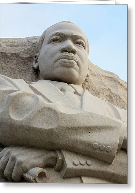 Black History Greeting Cards - MLK Memorial Greeting Card by Brian M Lumley