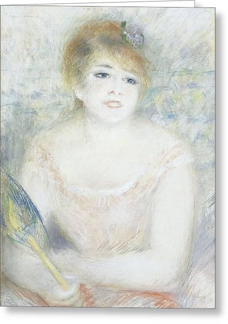 Mademoiselle Jeanne Samary Greeting Card by Pierre Auguste Renoir