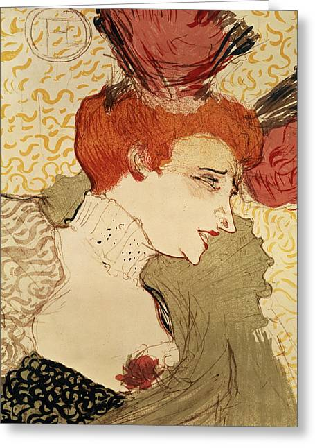 Modern Drawings Greeting Cards - Mlle Marcelle Lender Greeting Card by Henri de Toulouse-Lautrec