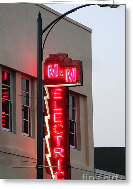 Downtown Pomona Greeting Cards - MM Electric Greeting Card by Gregory Dyer