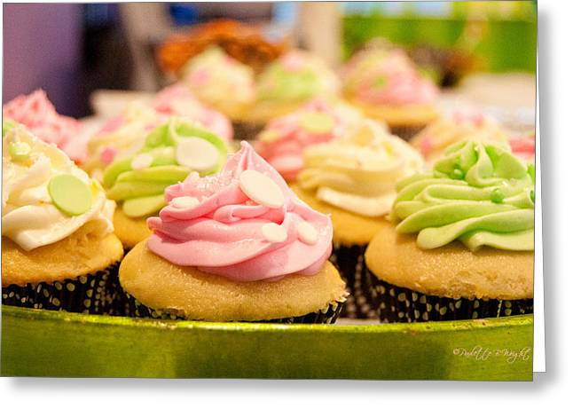 Gathering Greeting Cards - Mmm... Cupcakes Greeting Card by Paulette B Wright