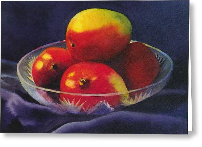 Mango Greeting Cards - Mmm Mangoes Greeting Card by Donna Anastasi