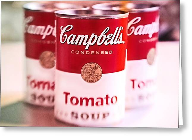 Canned Goods Greeting Cards - Mmm Mmm Good Greeting Card by Colleen Kammerer
