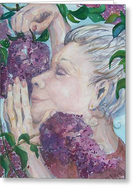 Recently Sold -  - Updo Greeting Cards - Mmmm Lilacs Greeting Card by Barbara McGeachen