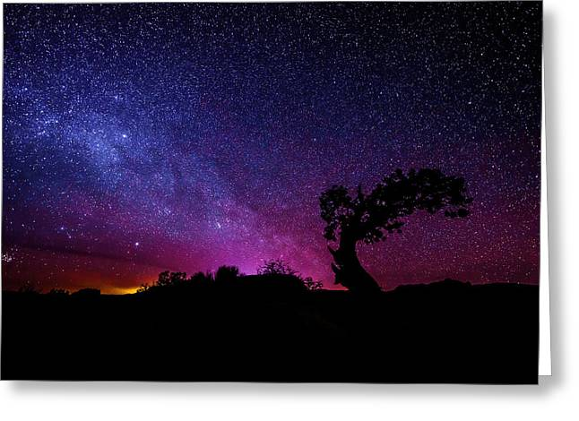 Blue Shadows Greeting Cards - Moab Skies Greeting Card by Chad Dutson