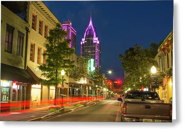Mobile, Alabama, Traffic On Dauphin Greeting Card by Bill Bachmann