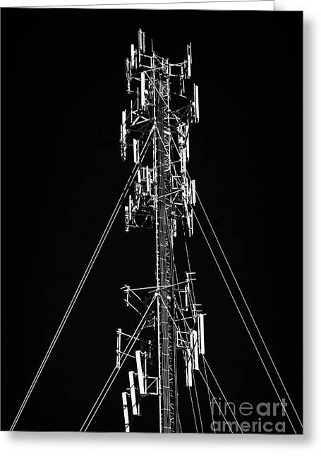 Transmitter Greeting Cards - Mobile Cell Phone Radio Mast Usa Greeting Card by Joe Fox