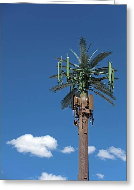 Mobile Phone Communications Tower Greeting Card by Jim West