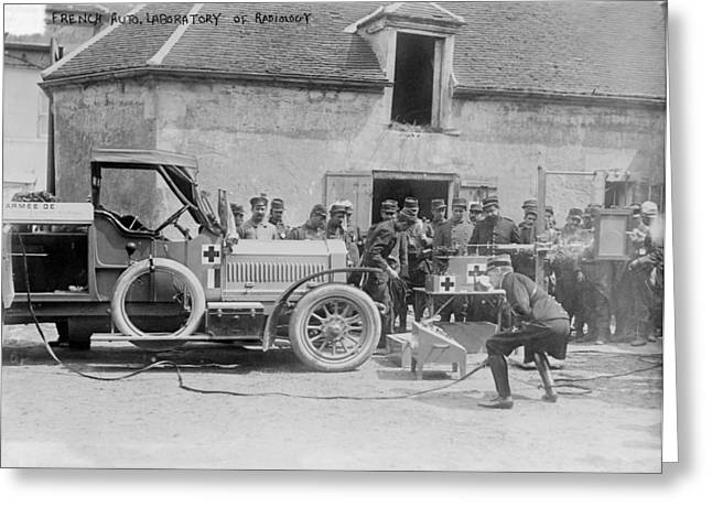 Diagnosis Greeting Cards - Mobile X-ray unit, World War I Greeting Card by Science Photo Library