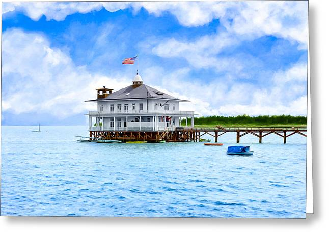 Mobile Yacht Club - Historic Alabama Coast Greeting Card by Mark E Tisdale