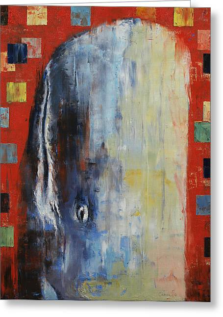 Moby Dick Greeting Cards - Moby Dick Greeting Card by Michael Creese