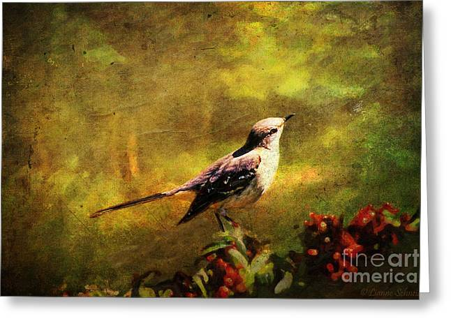 Mockingbird Have You Heard... Greeting Card by Lianne Schneider