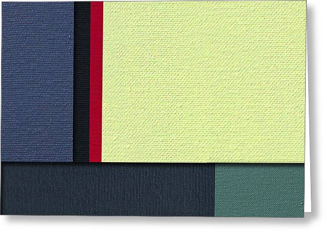 Color Block Greeting Cards - Mod Color Block Four 3D Greeting Card by Slade Roberts