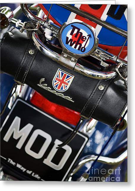 Lifestyle Greeting Cards - Mod Vespa Greeting Card by Tim Gainey