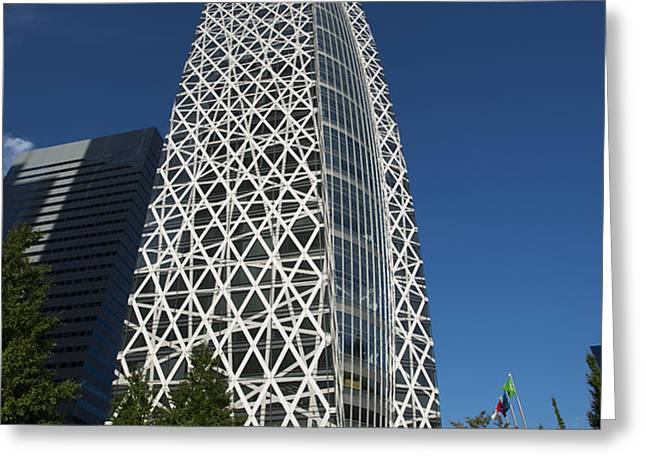 Mode Gakuen Cocoon Tower Greeting Card by David Bearden