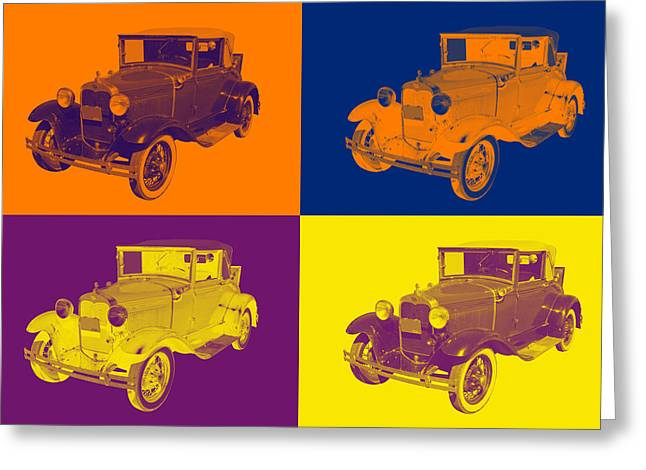 Oldtimer Greeting Cards - Model A Ford Roadster Convertible Antique Car Greeting Card by Keith Webber Jr